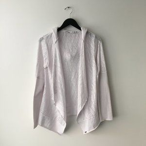 Prana Hoodie Jacket Made In USA White Size S